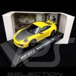 Porsche 991 GT3 Factory collection 2015 yellow 1/43 Minichamps WAX20130022