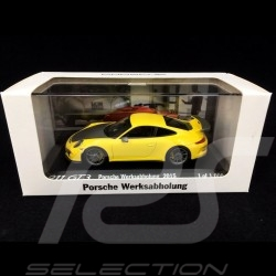 Porsche 991 GT3 Werksabholung 2015 gelb 1/43 Minichamps WAX20130022