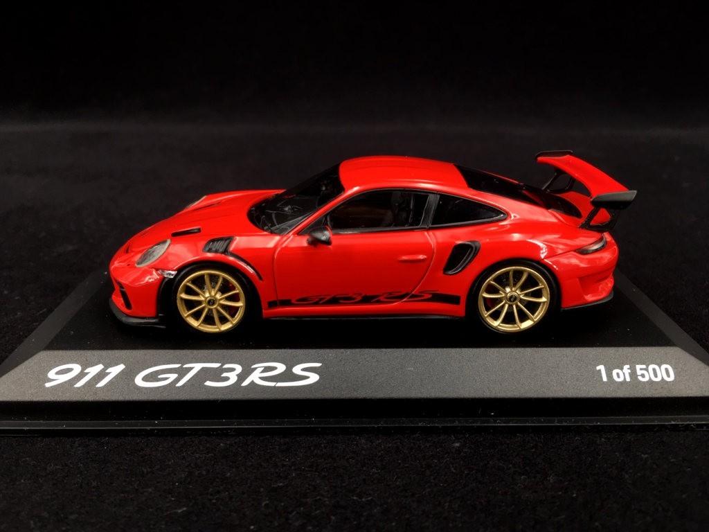 Porsche 911 Gt3 Rs Type 991 Mark Ii Pack Weissach 2018 Guards Red 1 43 Minichamps Wax02020084 Selection Rs