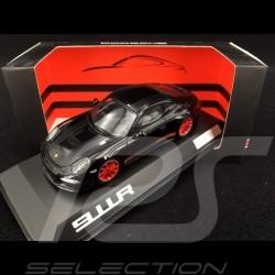 Porsche 911 R type 991 2016 noire bandes noires et rouges 1/43 Spark WAX02020054 black red schwarz rot