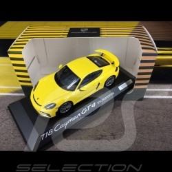 Porsche 718 Cayman GT4 type 982 2019 racing yellow Spectrum Edition 1/43 Minichamps WAP0200870L002