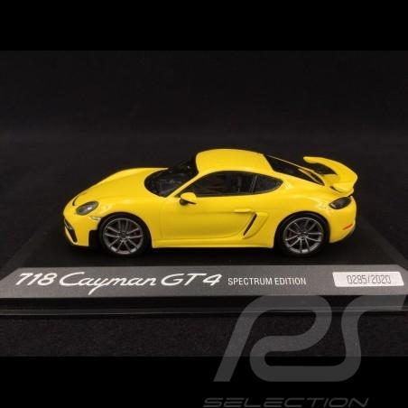 Porsche 718 Cayman GT4 type 982 2019 racing yellow Spectrum Edition 1/43 Minichamps WAP0200870L002