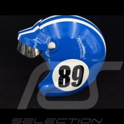 Casque Monte Carlo n° 89 bleu de France / bandes blanches Helmet Helm
