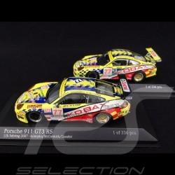 Duo Porsche 911 Typ 996 n° 77 RS 2007 und RSR 2008 1/43 Minichamps 400076977 400086977