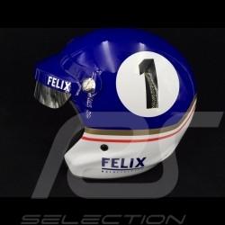 Casque Dakar n° 1 bleu / blanc helmet helm