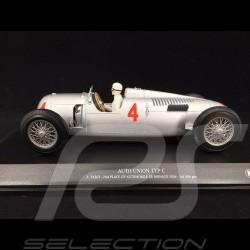 Auto-Union type C n°4 Platz 2 Grand prix de Monaco 1936 mit Achille Varzi am Steuer 1/18 Minichamps 155361004