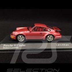 Porsche 911 Type Typ 964 Turbo 1990 Rouge Framboise Raspberry Red Himbeerrot Perleffekt 1/43 Minichamps 430069108