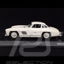 Mercedes 300 SL type W198 gullwing doors 1954 White 1/18 Minichamps 110037217