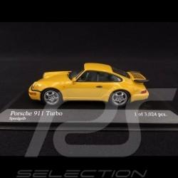 Porsche 911 Turbo type 964 1990 jaune vitesse 1/43 Minichamps 430069110