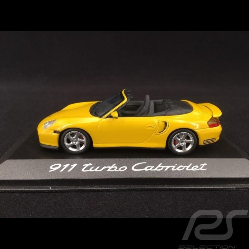 Porsche 996 Turbo Cabriolet yellow 2003 - 2006 1/43 Minichamps WAP02010214
