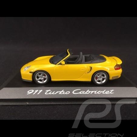 Porsche 996 Turbo Cabriolet gelb 2003 - 2006 1/43 Minichamps WAP02010214