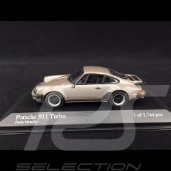 Porsche 911 Turbo typ 930 1977 platin 1/43 Minichamps 430069008