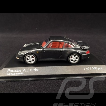 Porsche 911 Turbo type 993 1995 black 1/43 Minichamps 430069209