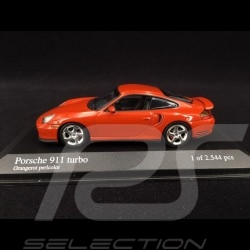 Porsche 911 Type 996 Turbo 1999 orange red pearl 1/43 Minichamps 430069308