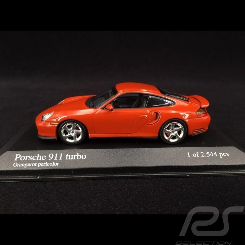 Porsche 911 Type Typ 996 Turbo 1999 rouge orange perlé red pearl orangerot perlcolor 1/43 Minichamps 430069308