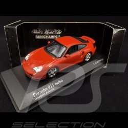Porsche 911 Type 996 Turbo 1999 orange red pearl 1/43 Minichamps 430069308