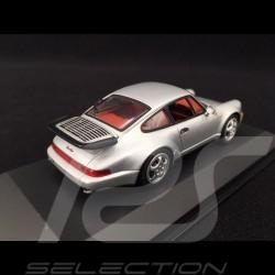 Porsche 911 Typ 964 Turbo Silber Grau 1/43 Minichamps WAP02006810