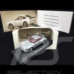 Porsche 911 Type Typ 964 Turbo Gris Grey Grau Argent Silver Silber 1/43 Minichamps WAP02006810