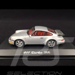 Porsche 911 Type 964 Turbo Silver Grey 1/43 Minichamps WAP02006810