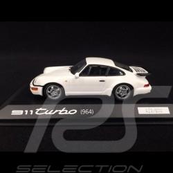 Porsche 911 Type 964 Turbo White 1/43 Minichamps WAP0205030AVKK