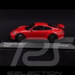 Porsche 911 Type 991 2017 carmine red 1/43 Minichamps 413066025