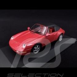 Porsche 911 Type 993 Carrera Cabriolet raspberry red 1/43 Minichamps 430063042