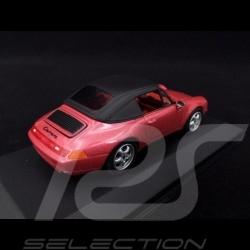 Porsche 911 Typ 993 Carrera Cabriolet Himbeerrot 1/43 Minichamps 430063042