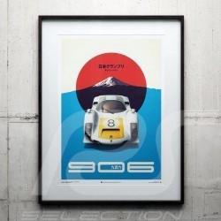 Porsche Poster 906 Carrera 6 n°8 Winner GP Japan Fuji 1967