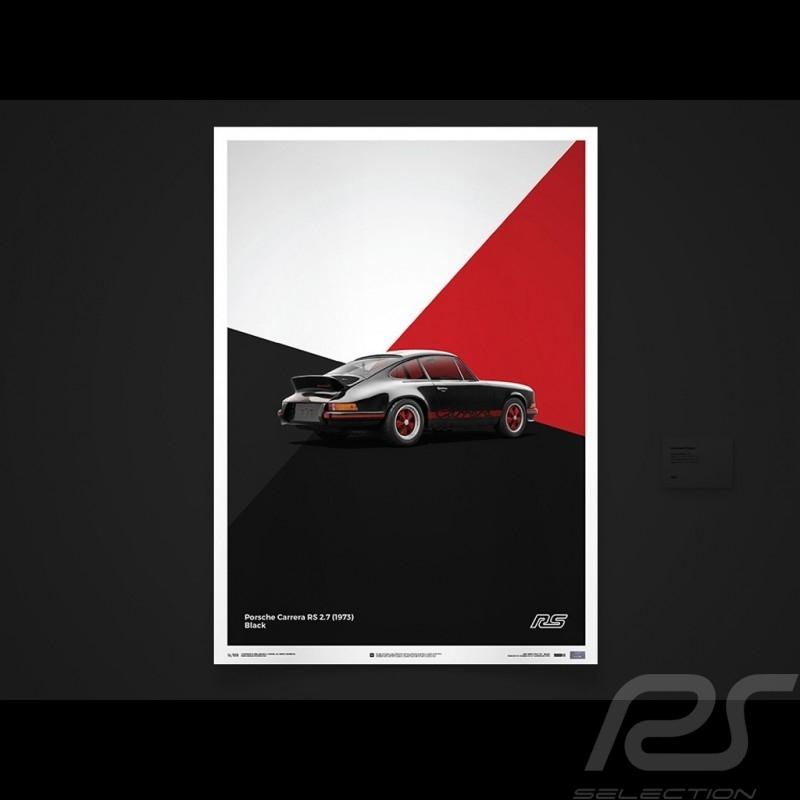 Porsche Poster Affiche Plakat 911 Carrera RS 1973 Noir black schwarz