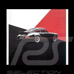 Porsche Poster 911 Carrera RS 1973 Schwarz