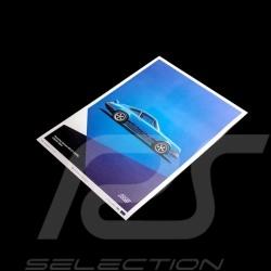 Porsche Poster Affiche Plakat 911 Carrera RS 1973 Bleu Glacier blue blau