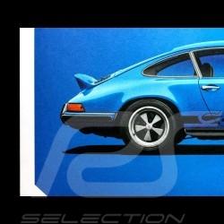 Porsche Poster 911 Carrera RS 1973 Glacier blau
