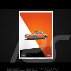Porsche Poster 911 Carrera RS 1973 Gulf orange