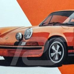 Porsche Poster 911 Carrera RS 1973 Gulf orange