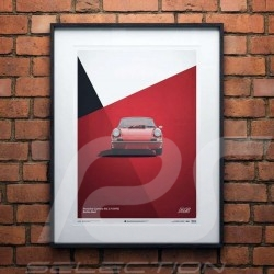 Porsche Poster 911 Carrera RS 1973 Bahia red Limited serie