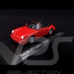Porsche 964 Carrera 2 Cabriolet 1990 rouge 1/43 Minichamps 430067330