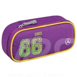 Trousse Mercedes à stylo enfant pencil case children federmäppchen kinder polyester / nylon violette purple lila Mercedes-Benz B