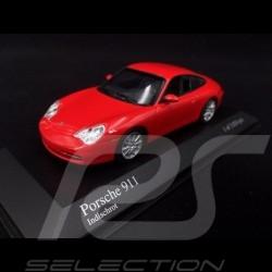 Porsche 911 typ 996 2001 Indischrot 1/43 Minichamps 400061024