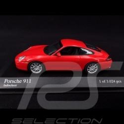 Porsche 911 type 996 2001 rouge Indien 1/43 Minichamps 400061024 guards red Indischrot