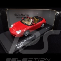 Porsche 996 Carrera Cabriolet 2001 rouge 1/43 Minichamps 400061034