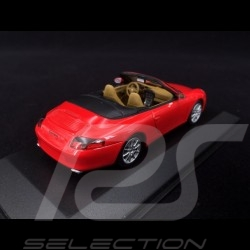 Porsche 996 Carrera Cabriolet 2001 rouge 1/43 Minichamps 400061034 guards red Indischrot