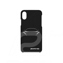 Coque de téléphone Mercedes AMG GT phone case for iPhone X / XS fluorescent fluoreszierend and black schwarz pour iPhone X / XS