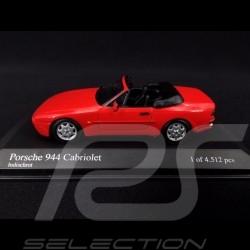 Porsche 944 Cabriolet 1991 rouge Indien 1/43 Minichamps 400062230 guards red Indischrot