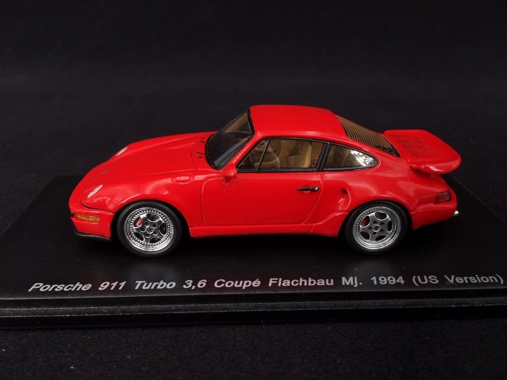 Porsche 911 Type 964 Turbo 3 6 Coupe Flachbau Mj 1994 Guards Red Us Version 1 43 Spark Map02002010 Selection Rs