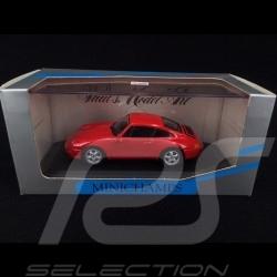 Porsche 911 type 993 1993 rouge Indien 1/43 Minichamps 430063007 guards red Indischrot