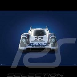 Poster Porsche 917 K 24h Le Mans 1971 Martini n° 22 Vainqueur winner sieger Colors of Speed