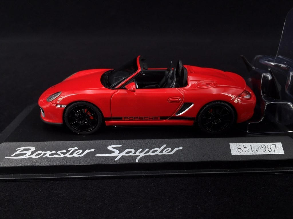 Porsche 987 Boxster Spyder 2005 Guards Red 1 43 Minichamps Pd04311007 Selection Rs
