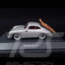 Porsche 356 A 1956 argent avec skis nautiques 1/43 Schuco 450269000 with water skis mit Wasserskiern