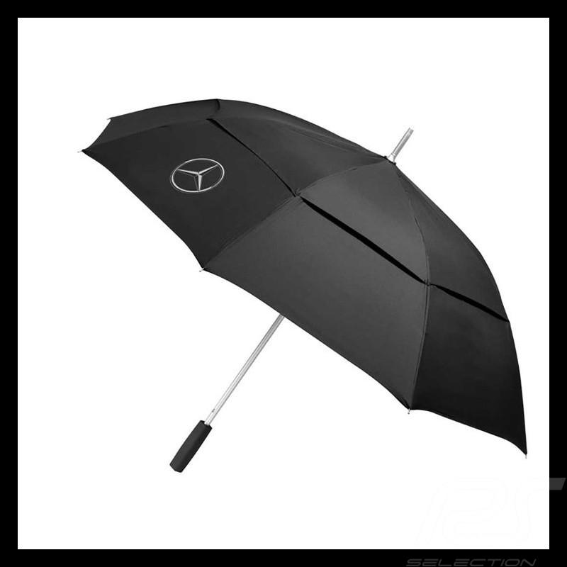 Parapluie umbrella regenschirm Mercedes grande taille ouverture automatique polyester noir large size automatic opening polyeste