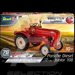 Kit kleberfreie Montage Porsche Diesel Traktor Junior 108 1957 red 1/24 Revell 07820
